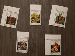 SENEGAL 1993 FLOWERS FLEURS BLUMEN ISSUED 1994 Scott 1074A / 1074E EXTREMLY RARE MNH (FOLD ON ONE STAMP- SEE SCAN) - Sénégal (1960-...)