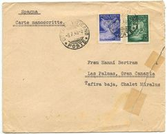 Vatican 1948 Cover Stazione Radio To Las Palmas, Gran Canaria, Scott C11 & C13 - Vatican