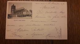 51 Sezanne Eglise Saint Denis St Autographe De Madeleine Paillard - Sezanne