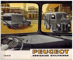 PEUGEOT UTILITAIRES CATALOGUE 3 VOLETS 1964 Format 23.5 X 19.5 FRANCE - Advertising