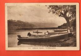 GBI-06 Conjux SAvoie, Le Débarcadère. Barques. Circulé En 1937, Timbre Manque - Autres Communes