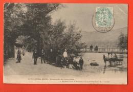 GBI-10  Lamalou-les-Bains  Passerelle De Lavernière , Attelage. ANIME. Cachet  1905 - Lamalou Les Bains