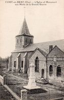Cuigy En Bray - L ' église Et Monument Aux Morts De La Grande Guerre - France
