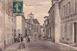 SEIGNELAY: Grande Rue. Animée. - Seignelay