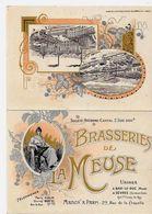 Publicité Publicitaire Réclame Bière Bier Brasserie De La Meuse Dépliant 2 Volets Litho - Publicité