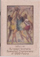 Basketball / 27th European Women's Basketball Championship Of 1999 - Poland / Flyer, Bulletin, Announcement - Sports