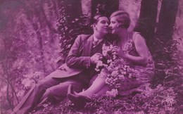 Pink Tinted Postcard, Couple In Love, Les Amoureux (pk43477) - Noces