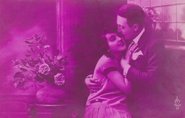 Pink Tinted Postcard, Couple In Love, Les Amoureux (pk43480) - Noces