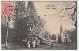 CPA-LUXEMBOURG-LASAUVAGE Eglise Et Le Rocher Kirche U. Felsen (Femmes Enfants) Carte Envoyé De ROUANGE- 1912 -2scans - Sonstige
