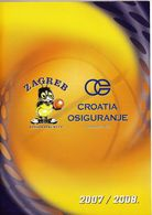 Basketball / Basketball Club Zagreb Croatia Osiguranje / Bulletin, Magazine / Zagreb, Croatia Season 2007 - 2008 - Books