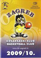 Basketball / Basketball Club Zagreb Croatia Osiguranje / Bulletin, Magazine / Zagreb, Croatia Season 2009 - 2010 - Books