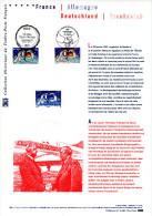 """2013 """" FRANCE ALLEMAGNE : DE GAULLE / 50 ANS DU TRAITE DE L'ELYSEE """"  Sur Doc. Officiel. N° YT 4711 + Timb. All. DPO - Emisiones Comunes"""
