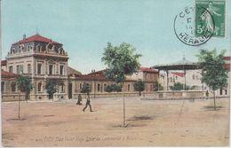 CPA Cette (Sète) - Place Victor Hugo - Ecole Du Commerce & Musée (avec Animation Et Kiosque à Musique) - Sete (Cette)