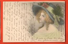 GBI-16 Jeune Femme Au Chapeau Vert. Mode. M. Vienne 112. Précurseur. Circulé Sous Enveloppe - Mecki