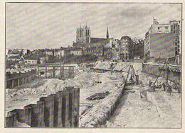 Belgique BRUXELLES Chantier De La Jonction Nord Midi  1938 - Old Paper