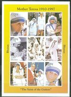 Bhutan 1997, Mother Teresa, Diana, Pope J. Paul II, 9val In BF IMPERFORATED - Bhutan