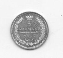 EMPIRE DE RUSSIE - 5 KOPECKS - ARGENT - 1853 - Russia