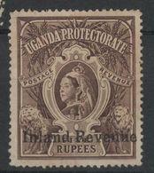 BRITISH EAST AFRICA UGANDA - (Vedere Fotografia) (See Photo) 1898 5 Rupie Victoria Sovrastampa - Kenya, Uganda & Tanganyika