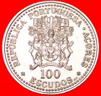 √ FLOWERS: AZORES ★ 100 ESCUDOS 1986 UNC MINT LUSTER! LOW START ★ NO RESERVE! - Açores