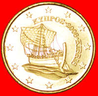 √ FINLAND: CYPRUS ★ 50 EURO CENT 2008 SHIP UNC MINT LUSTER! LOW START ★ NO RESERVE! - Cyprus