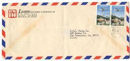 Taiwan ROC 1967 Airmail Cover Taipei To San Francisco CA, Scott C77 Pair - 1945-... República De China