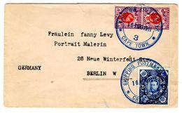 Lettre De Cape Town (16.08.1911) Pour Berlin_Shipping Postmaster_Orange River - Afrique Du Sud (...-1961)