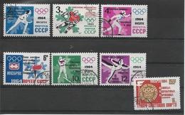RUSSIE / URSS Année 1964 /  YT N° 2790/2796 Oblitérés Série Complete Victoires Au JO D'Insbruck Surchargés - Oblitérés