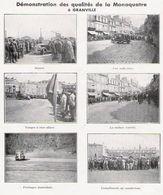 GRANVILLE Renault Démonstration De La Monaquatre  1934 - Old Paper