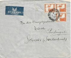 PALESTINE 1937 Cover Posted From Jerusalem 3 Stamps USED - Palestine