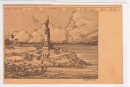 """Cartolina Postale Commemorativa Con Annulli Arrivo A Este- In Franchigia_R.Esercito _""""10.12.12_Bengasi Guerra Di Libia- - Militaria"""