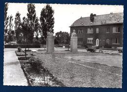 Braine-le-Comte. Place De La Culée. Statues De Gillis Adolphe Et Du Père Damien - Braine-le-Comte