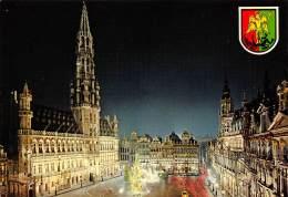 CPM - BRUXELLES - Un Coin De La Grand'Place La Nuit - Bruxelles La Nuit