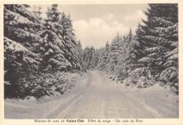 CPM - Maison De Cure De SAINTE-ODE - Effet De Neige - Un Coin Du Parc - Sainte-Ode