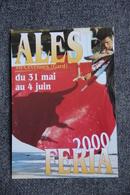 ALES - CORRIDA FERIA 2000 , Programme Au Verso - Corrida