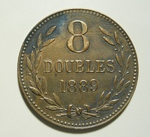 Guernsey 8 Doubles 1889 H - Guernsey