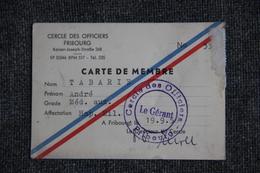 Carte De Membre Du Cercle Des Officiers De FRIBOURG ( ALLEMAGNE) - Visiting Cards