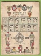 España - Fútbol Estadio Madrid Barcelona Coruña Bilbao Valencia Sevilla Betis Malaga Gijon Santander Oviedo Murcia Celta - Old Paper