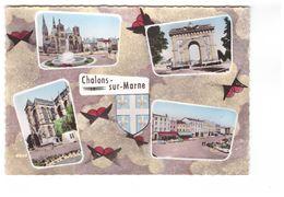 51 Chalons Sur Marne Carte 4 Vues  CPSM GF Carte Non Voyagée - Châlons-sur-Marne