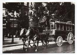 """PARIS --Le """" Madeleine-Bastille"""" à Son Départ  ( Animée,attelage )  ---PARIS  1900 -- Carte Glacée - Public Transport (surface)"""