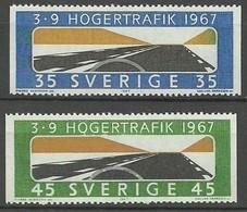 SUECIA 1967  Yt:SE 572/73 A **  Mnh - Zweden