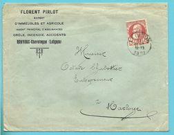 74 Op Brief Met Cirkelstempel LEIGNON , Hoofding Florent PIRLOT / RONVAUX-CHEVETOGNE - 1905 Grove Baard