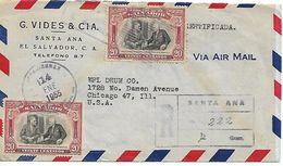 EL SALVADOR 1955 Cover, Posted 2 Stamps COVER USED - El Salvador