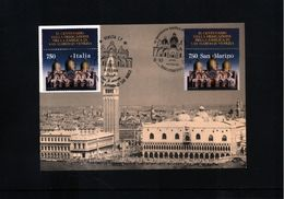 Italia +San Marino 1994 Joint Issue Basilica San Marco In Venice Maximumcard - Gezamelijke Uitgaven