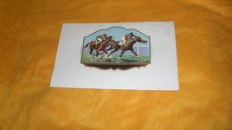 CHROMO OU ETIQUETTE ANCIENNE DATE ?. /  JOCKEY CLUB. - Trade Cards