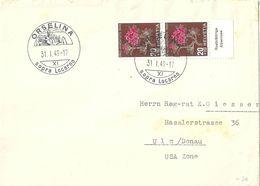 Brief  Orselina - Ulm D            1949 - Zwitserland