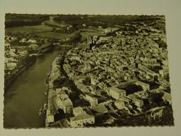 HERAULT-AGDE-1155-VUE AERIENNE LA VILLE SUR L'HERAULT ET LA CATHEDRALE SAINT ETIENNE ED SERP - Agde