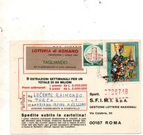 1982 CARTOLINA LOTTERIA DI AGNANO - 1981-90: Storia Postale