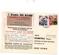 1982 CARTOLINA LOTTERIA DI AGNANO - 1946-.. Republiek