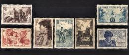 FRANCE 1945 - LOT Y.T. N° 737 /738 / 739 / 740 / 741 / 742 / 743  -  NEUFS** - Frankrijk