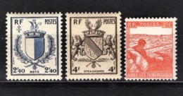 FRANCE 1945 - Y.T. N° 734 / 735 / 736  - 3 TP NEUFS** - Frankrijk